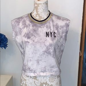 NYC tie dye crop top